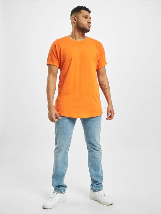 Urban Classics T-Shirt Long Shaped Turnup orange