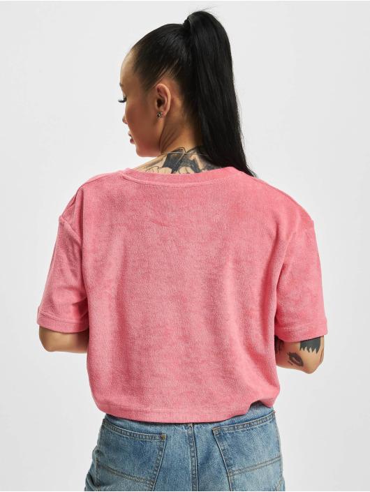 Urban Classics T-Shirt Short Towel pink