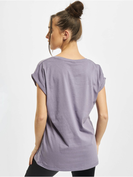 Urban Classics T-Shirt Ladies Extended Shoulder purple