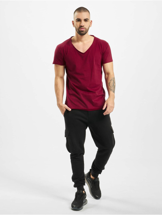Urban Classics T-Shirt Fitted Peached Open Edge red