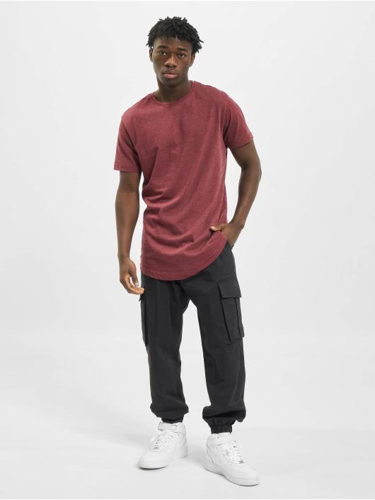 Urban Classics T-Shirt Shaped Melange Long red