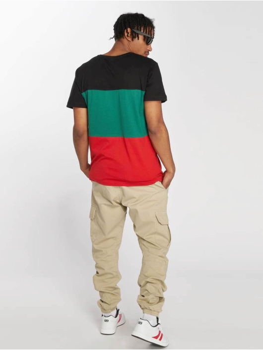 Urban Classics T-Shirt Color Block red
