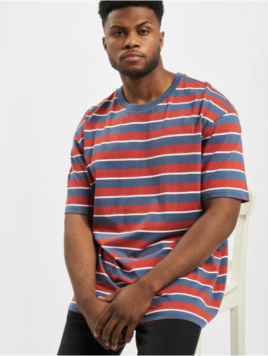 Urban Classics T-Shirt Yarn Dyed Oversized Board Stripe red