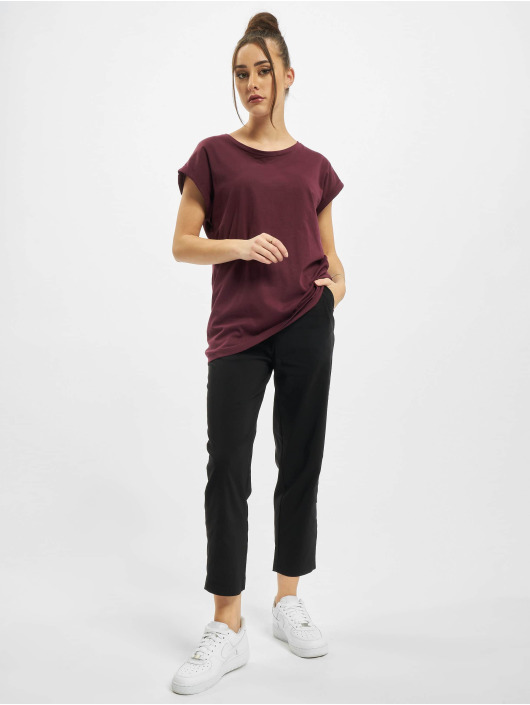 Urban Classics T-Shirt Ladies Extended Shoulder red