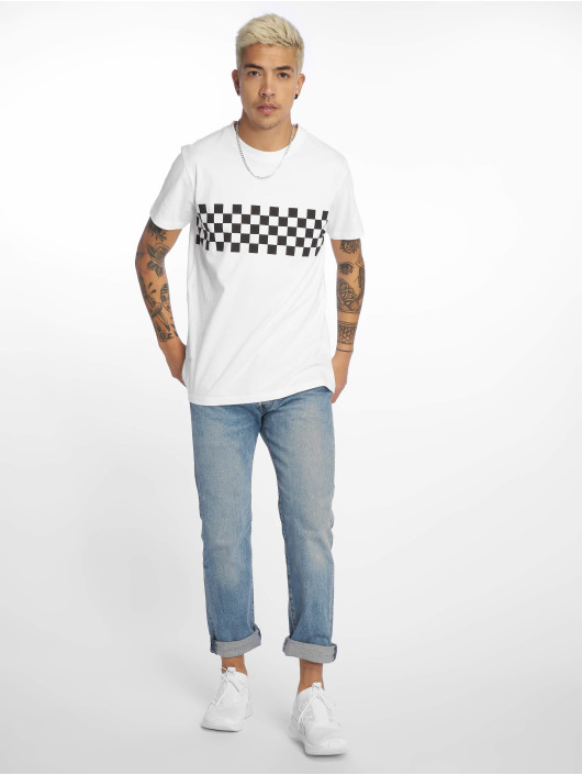 Urban Classics T-Shirt Check Panel white
