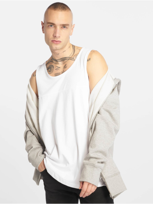 Urban Classics T-Shirt Mesh Panel white