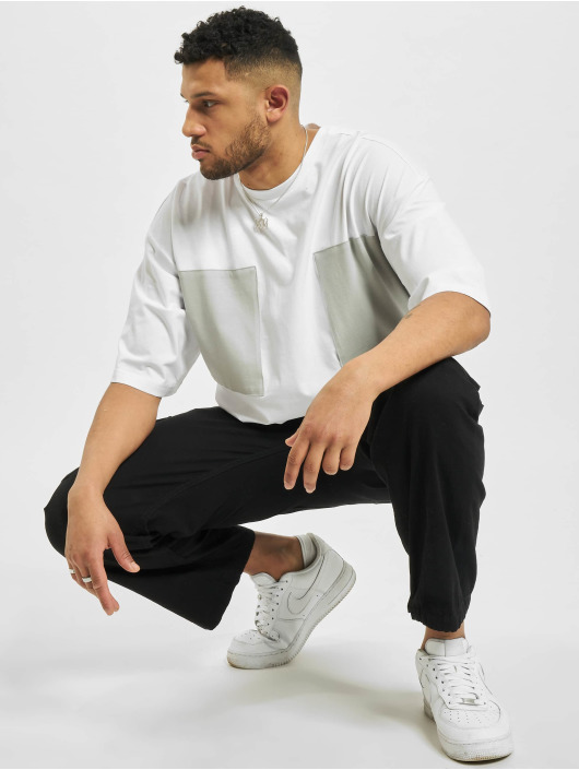 Urban Classics T-Shirt Big Double Pocket white