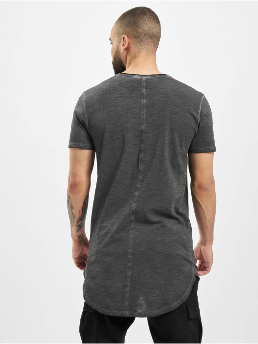 Urban Classics Tall Tees Long Back Shaped Spray Dye gray