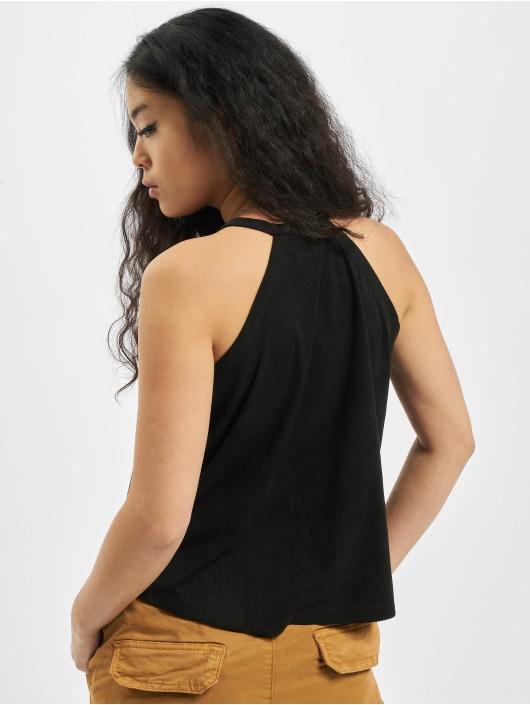 Urban Classics Top Ladies Peached Rib Neckholder black
