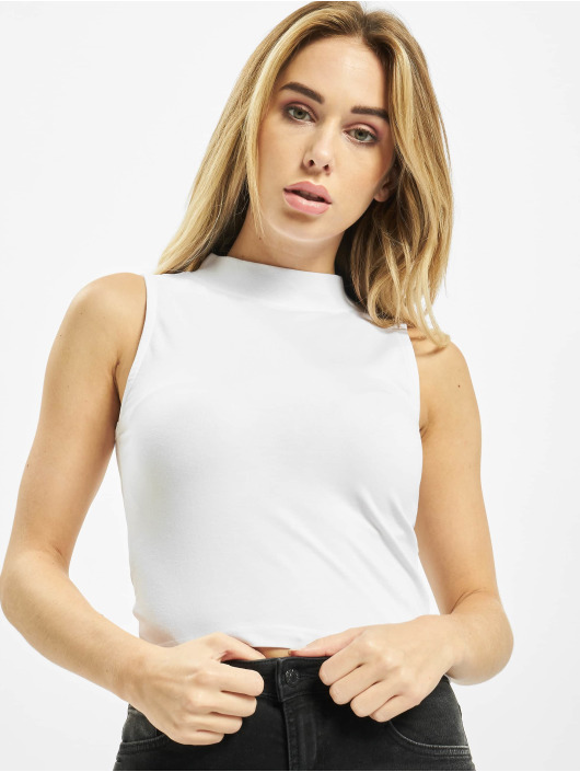 Urban Classics Top Ladies Turtleneck white