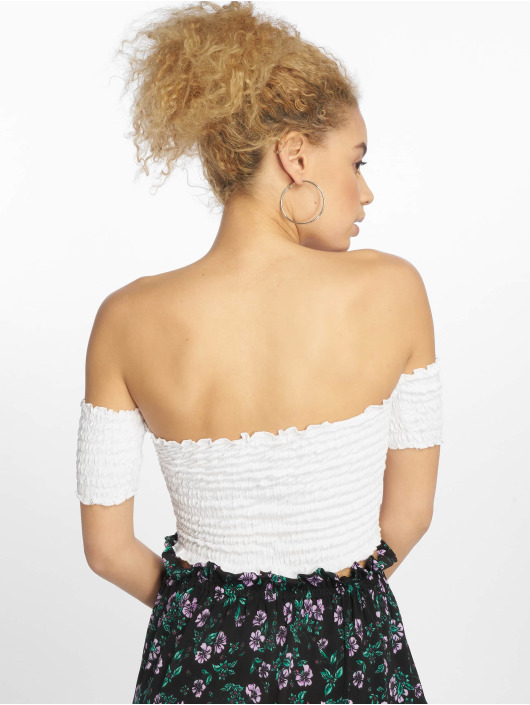 Urban Classics Top Cold Shoulder Smoke white
