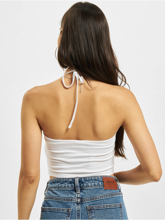 Urban Classics Top Cropped Neckholder white