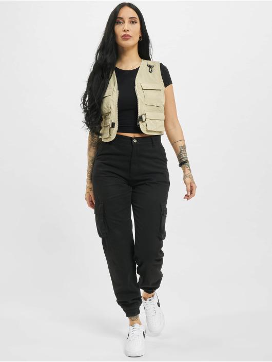 Urban Classics Vest Ladies Short Tactical beige