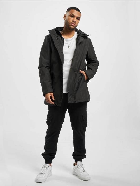 Urban Classics Winter Jacket Hooded Long black