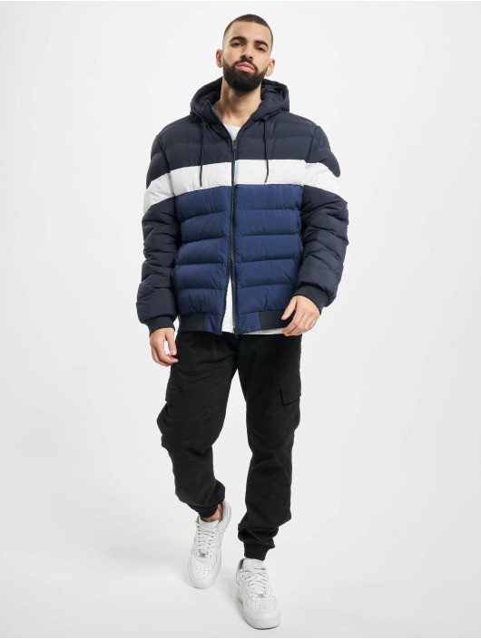 Urban Classics Winter Jacket Colorblock Bubble blue