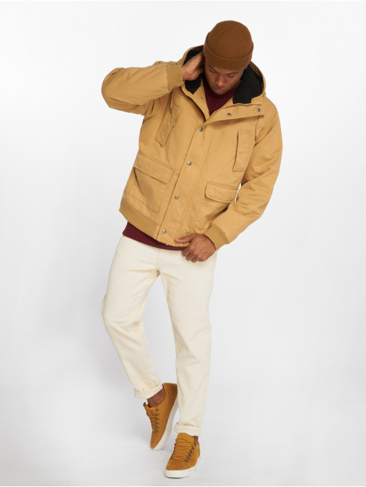 Urban Classics Winter Jacket Hooded Cotton brown