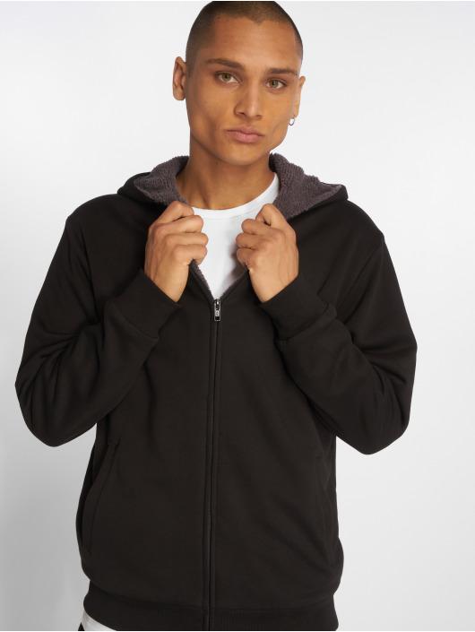 Urban Classics Zip Hoodie Sherpa Lined black