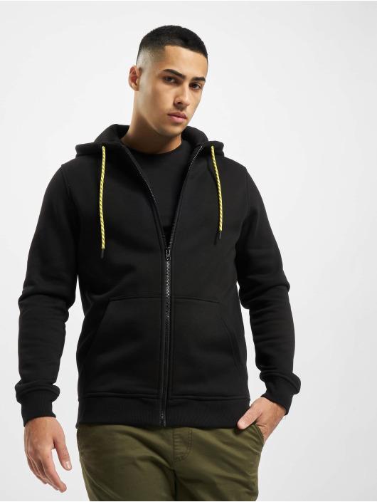Urban Classics Zip Hoodie Contrast Drawstring black
