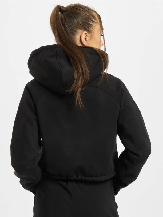 Urban Classics Zip Hoodie Ladies Oversized Short Raglan black