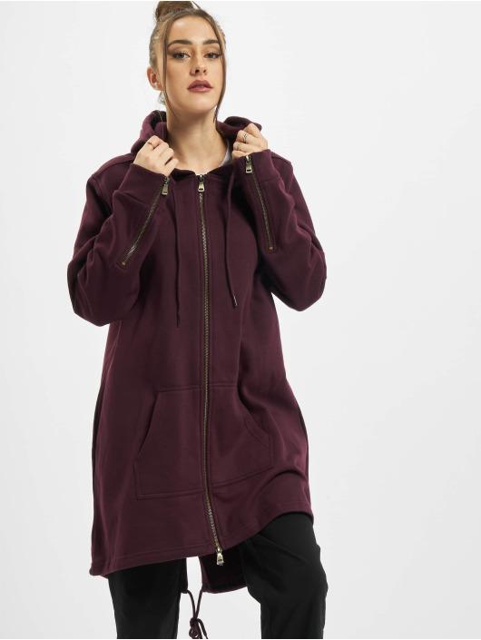 Urban Classics Zip Hoodie Ladies Sweat Parka red