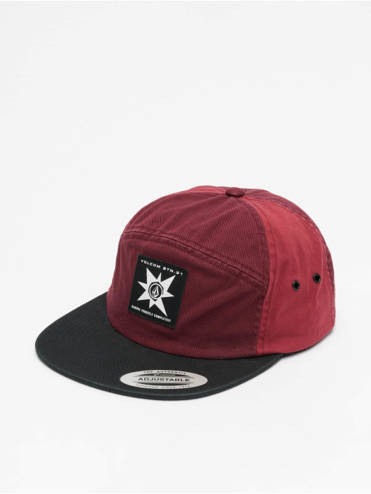 Volcom 5 Panel Cap Hat red