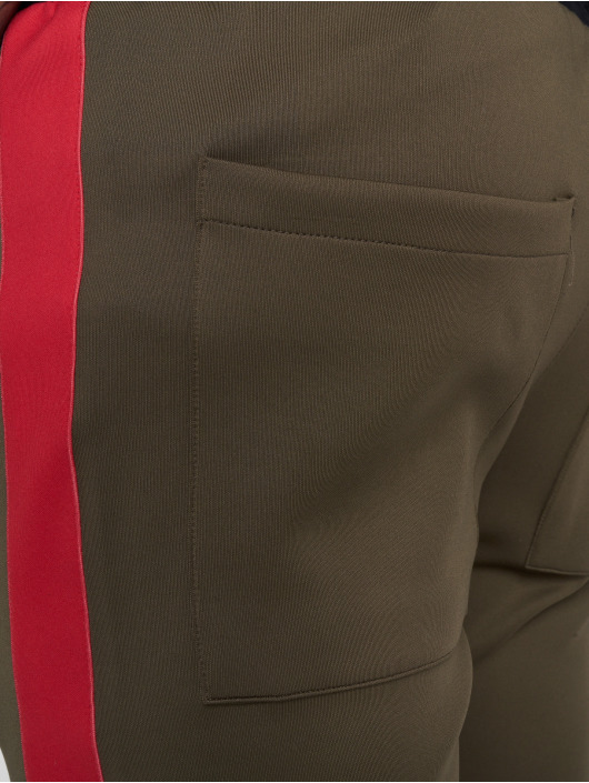 VSCT Clubwear Sweat Pant Stripe with Zip Pocket khaki