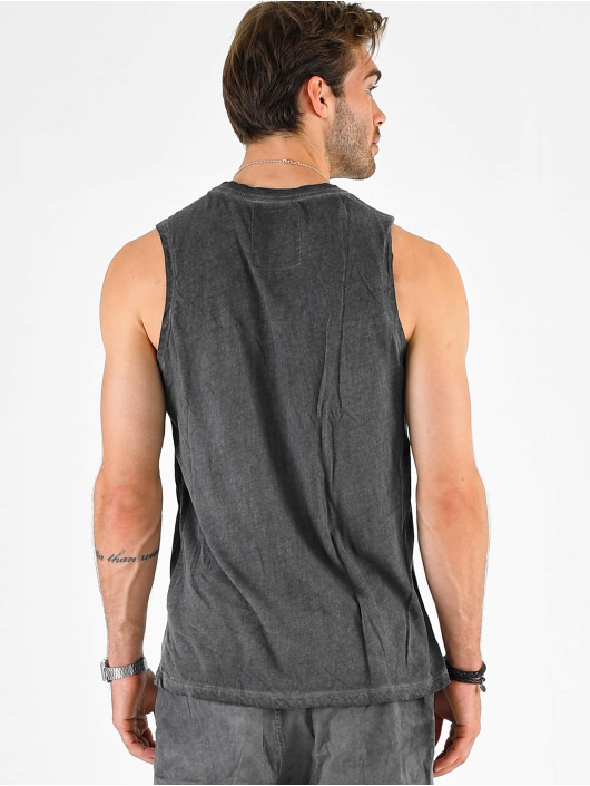VSCT Clubwear Tank Tops Sharp Logo Sleeveless gray