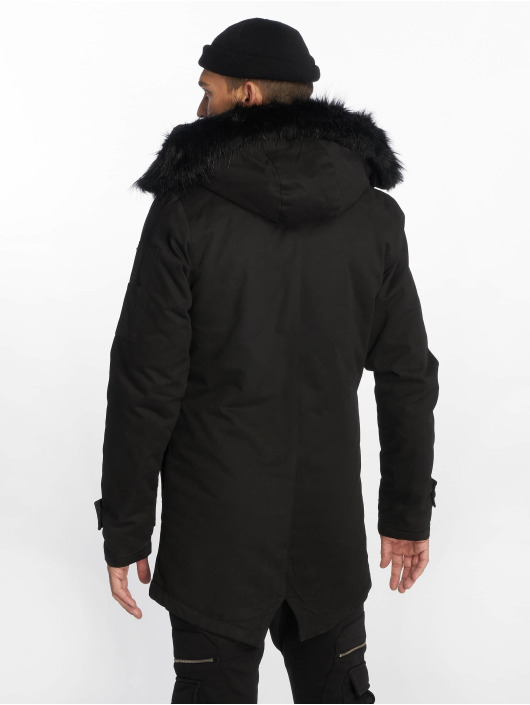 VSCT Clubwear Winter Jacket Zip Decor black