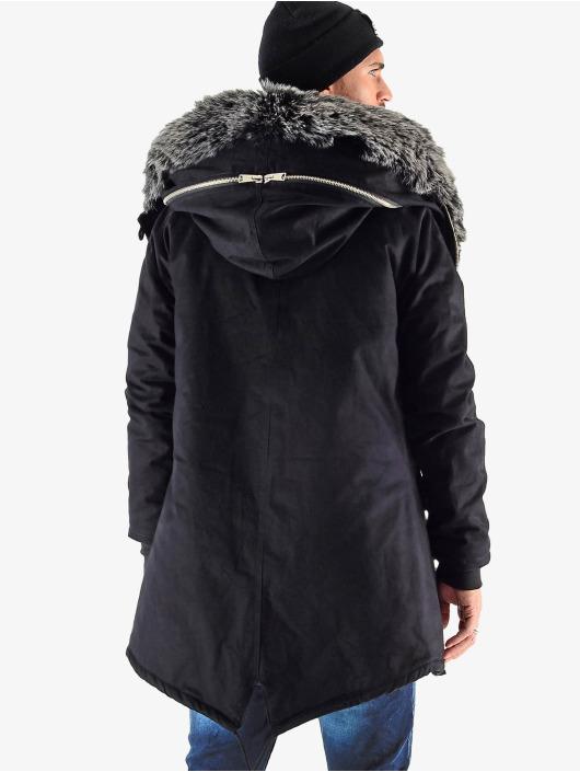 VSCT Clubwear Winter Jacket Double Zipper Luxury black
