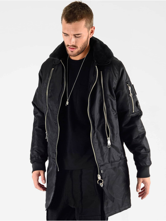 VSCT Clubwear Winter Jacket Huge Decor Zipper black