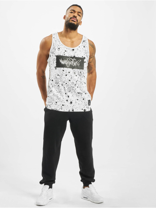 Who Shot Ya? Tank Tops W Zone white