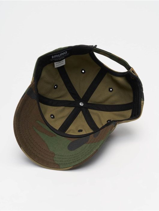 Wrung Division Snapback Cap Camo camouflage