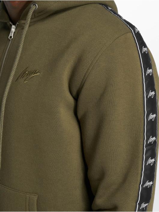 Wrung Division Zip Hoodie Ross khaki