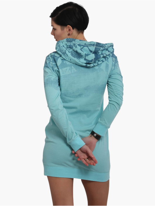 Yakuza Dress 893Allover Lite Hoodie turquoise
