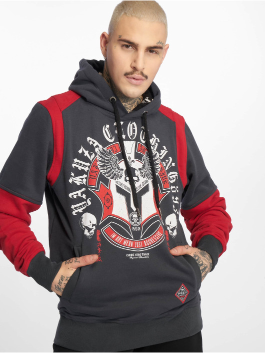 Yakuza Hoodie Mexica Two Face black