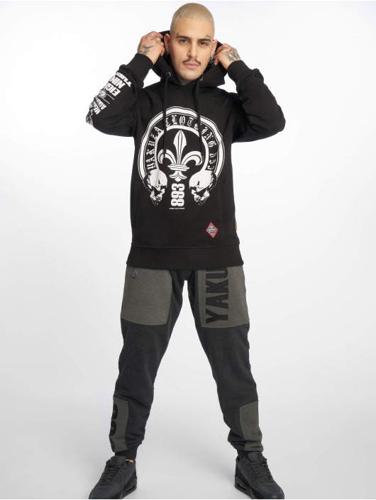 Yakuza Hoodie Lily Skull Two Face black