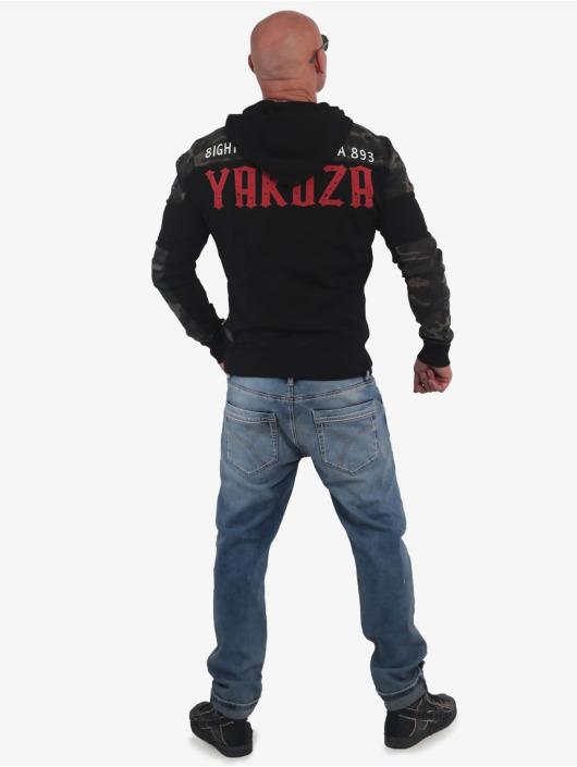 Yakuza Hoodie Warning Two Face black