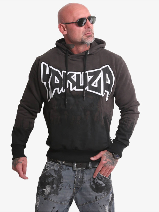 Yakuza Hoodie Splatter Skull black