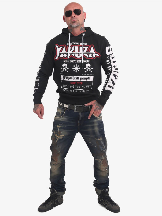 Yakuza Hoodie Guns Vs People black