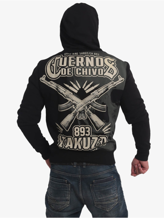 Yakuza Hoodie Cuernos De Chivo black