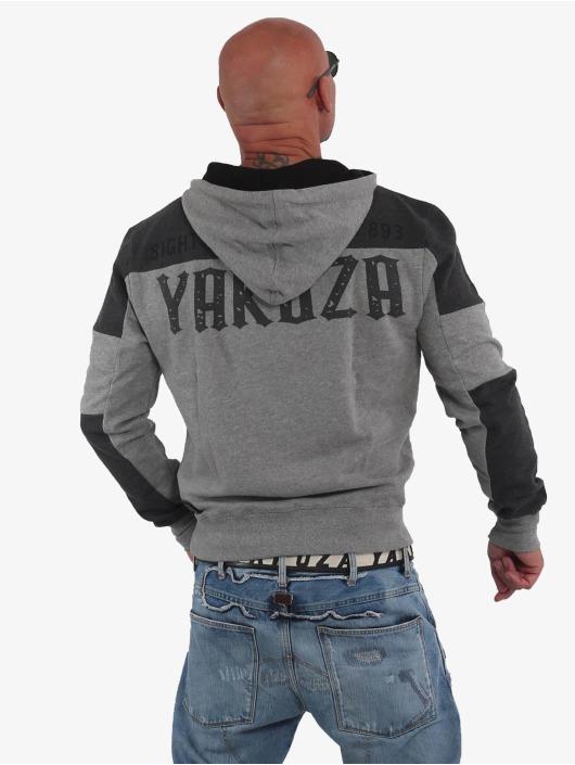 Yakuza Hoodie Warning Two Face gray