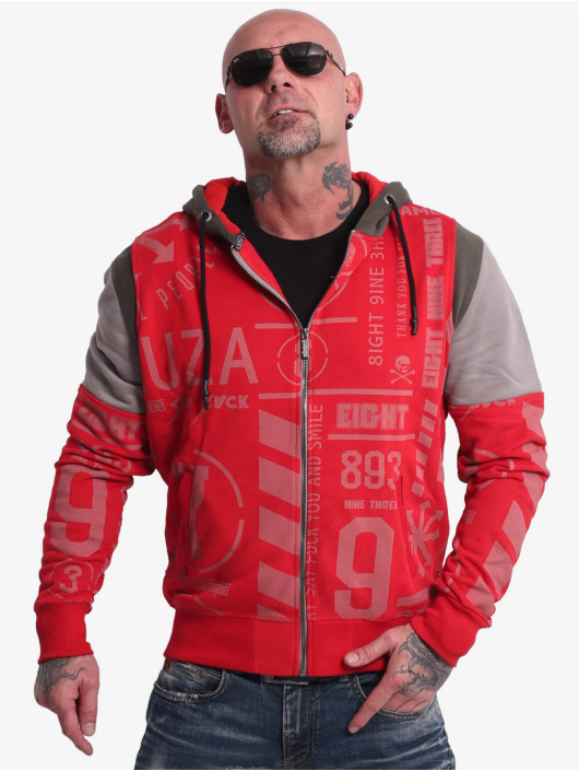 Yakuza Hoodie Allover Pattern Tri Face red