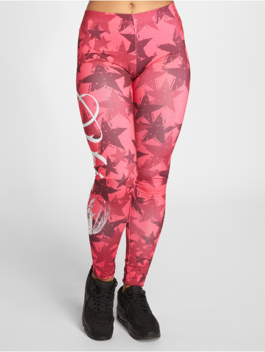 Yakuza Leggings/Treggings Stars pink