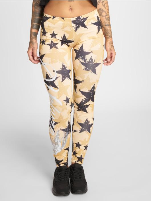 Yakuza Leggings/Treggings Stars yellow