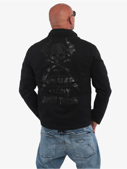Yakuza Lightweight Jacket Skull N Wings Military black