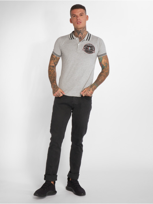 Yakuza Poloshirt Pretty Far gray