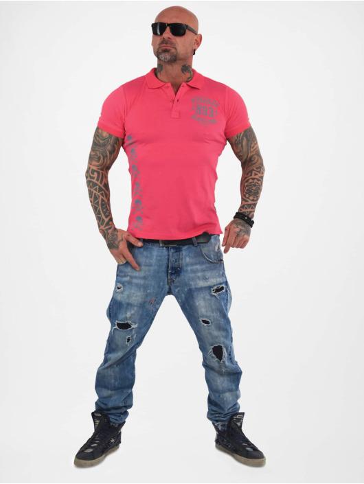 Yakuza Poloshirt Menento Mori Pique pink