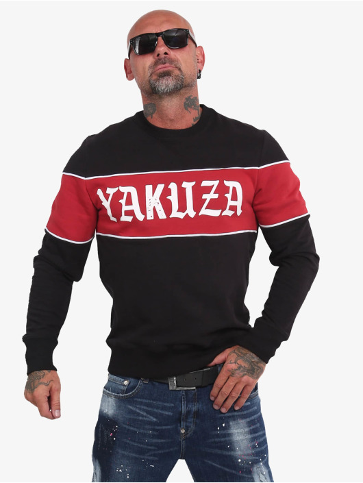 Yakuza Pullover Retro Stripe black