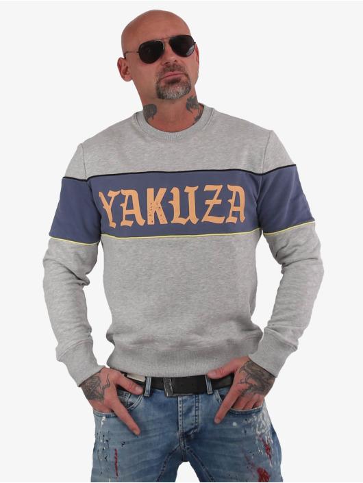 Yakuza Pullover Retro Stripe gray