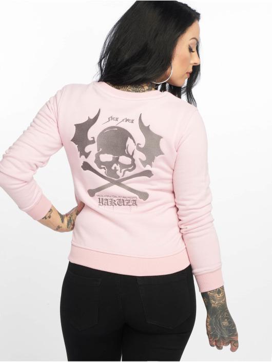 Yakuza Pullover Flying Skull pink